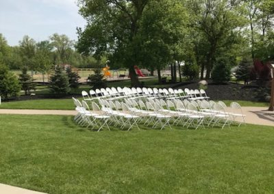 Pergola-chairs rented by third party