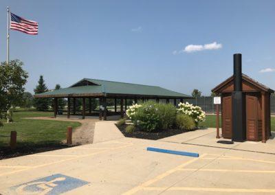 Pavilion #1 with composite restrooms